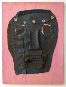 Kukla, kůže, kov, dřevo, 2012, 40,7 x 30,6 cm