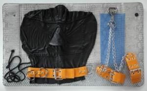 Monplaisir, kůže, kov, plast, 2012, 33,5 x 56,5 cm