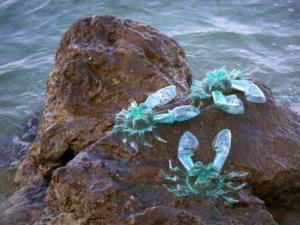 Veronika Richterová, PET-ART, pet lahev, umění z odpadu, recyklace, up-cycling, krabi