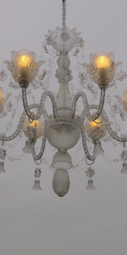Křišťálový lustr do soukromého salónu