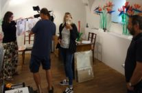 about Japanese exhibition in ARTMIX, Czech TV